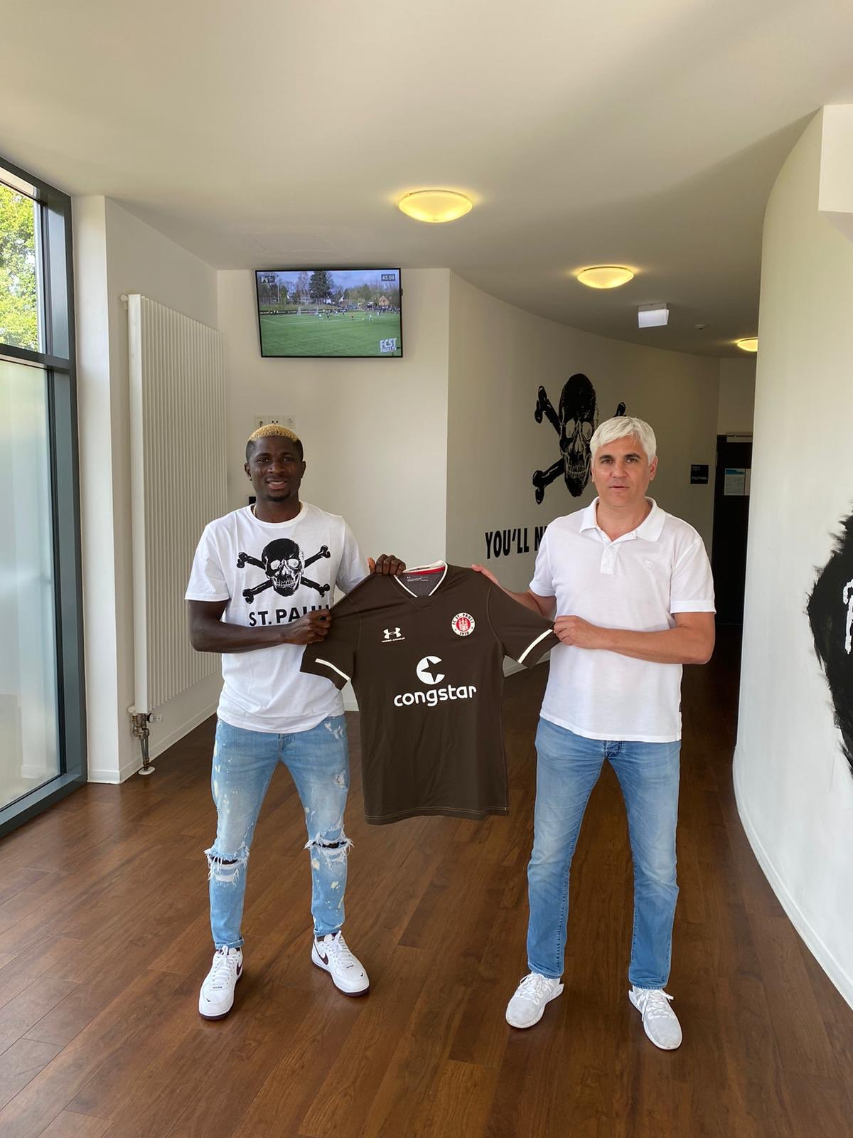 Ex-Flying Eagles Midfielder Aremu Joins German Club St. Pauli On Three-Year Contract