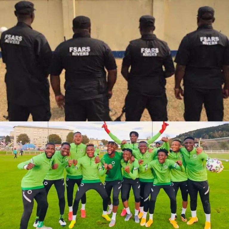 Super Eagles Stars Celebrate As Nigerian Government Scraps SARS