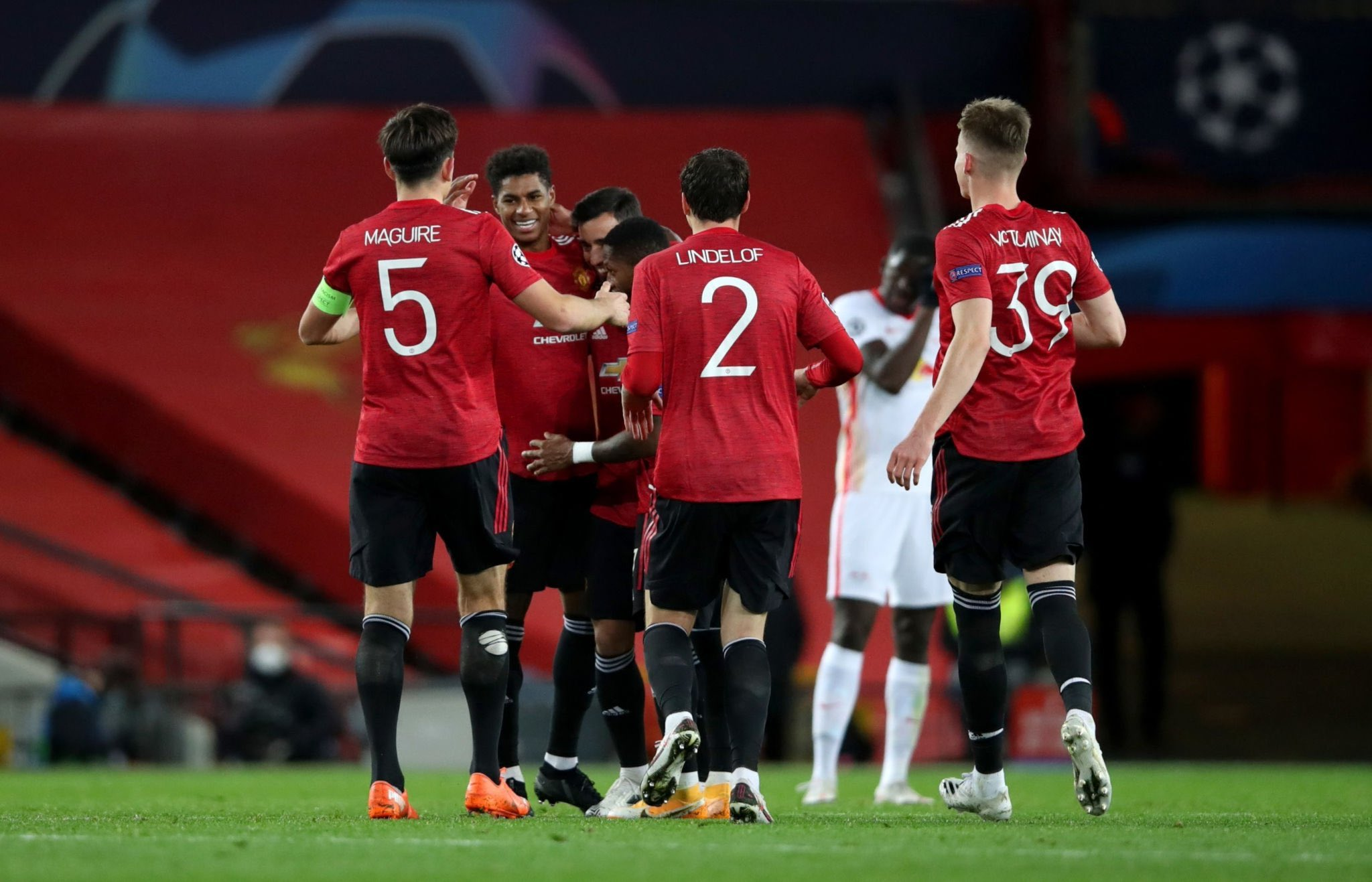 UCL: Ighalo Benched, Rashford Bags Hat-trick In Man United's Thrashing Of Leipzig; Barca Claim Win At Juve