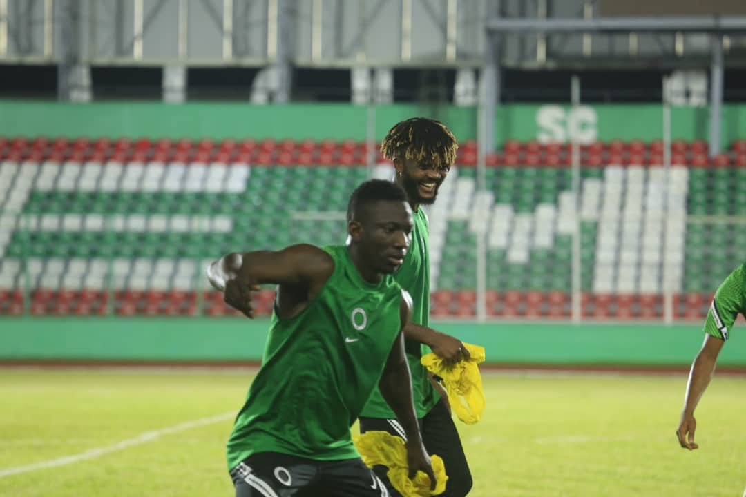 Super Eagles Hold First Training Session Under Floodlights Ahead Sierra Leone Clash