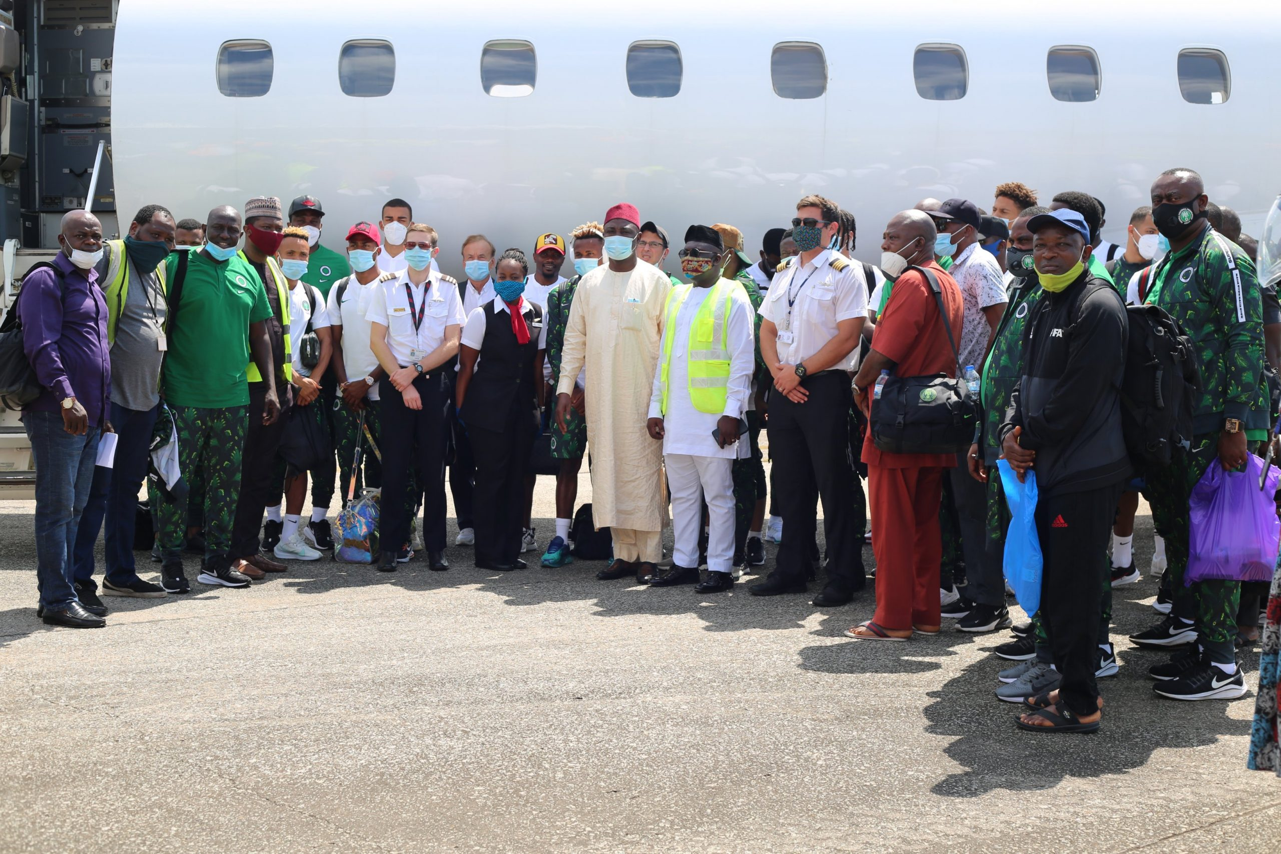 Super Eagles Arrive Freetown, Undergo Covid-19  Tests
