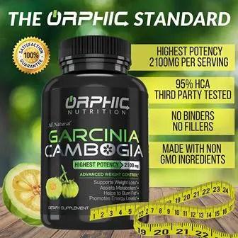 100% Pure Garcinia Cambogia Extract - Appetite Suppressant - Carb Blocker Capsules