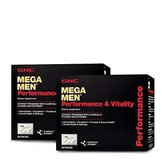 GNC Mega Men Energy & Metabolism Vitapak, Twin Pack, 30 Packs per Box
