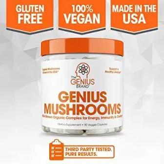 Genius Mushroom – Lions Mane, Cordyceps and Reishi