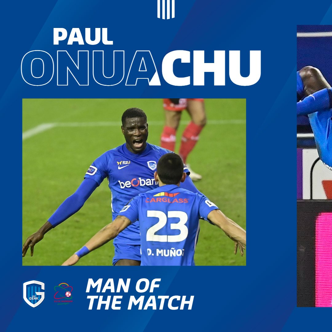 Onuachu Named Man Of The Match In Genk's Win Vs Zulten Waregem