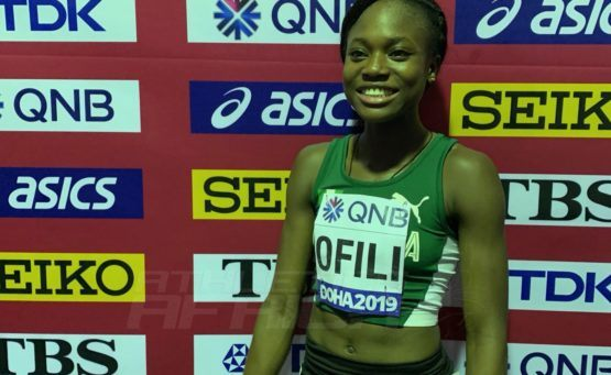 Ofili Races To New African 200m Indoor Record, Meets Olympic Qualifying Standard