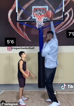 Nigerian Basketballer Hopes To Become NBA's Tallest Ever Player
