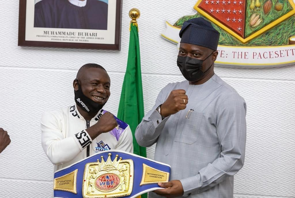 How Gunmen Attacked Me After I Received N10m From Gov Makinde – Nigerian WBF Boxing Champion, Oyekola Reveals