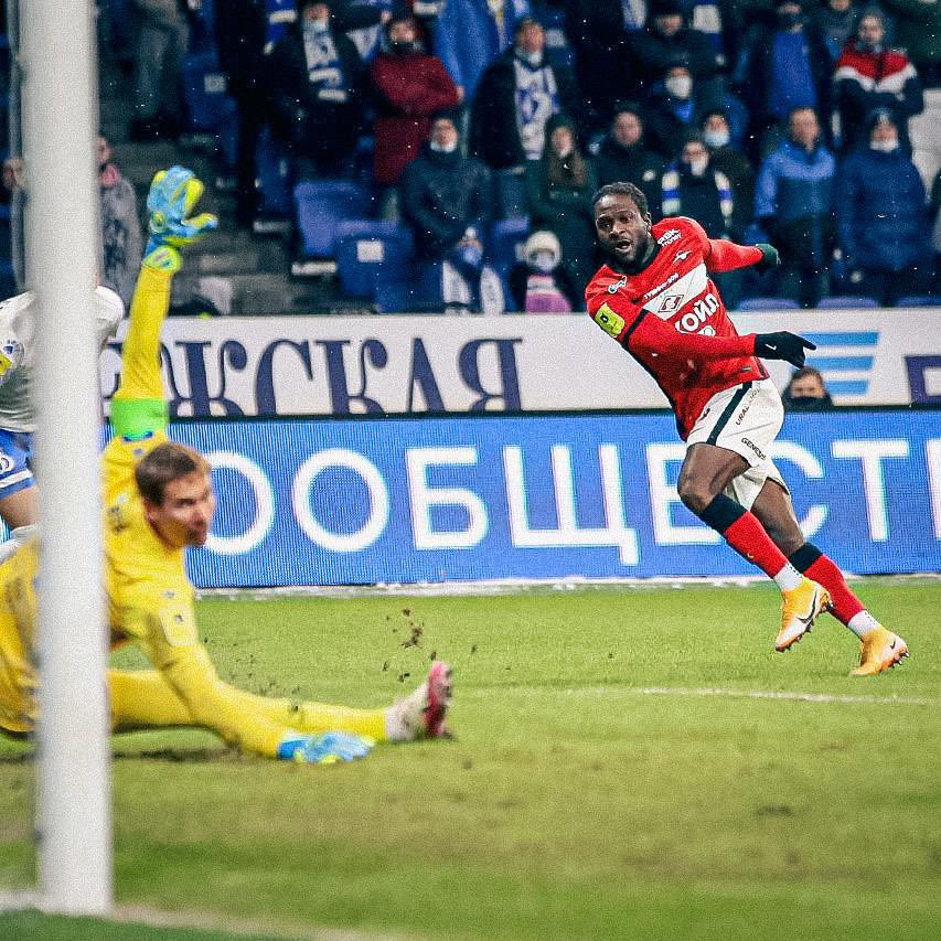 Russia: Moses Scores, Goes Off Injured As Spartak Moscow Beat Dinamo Away