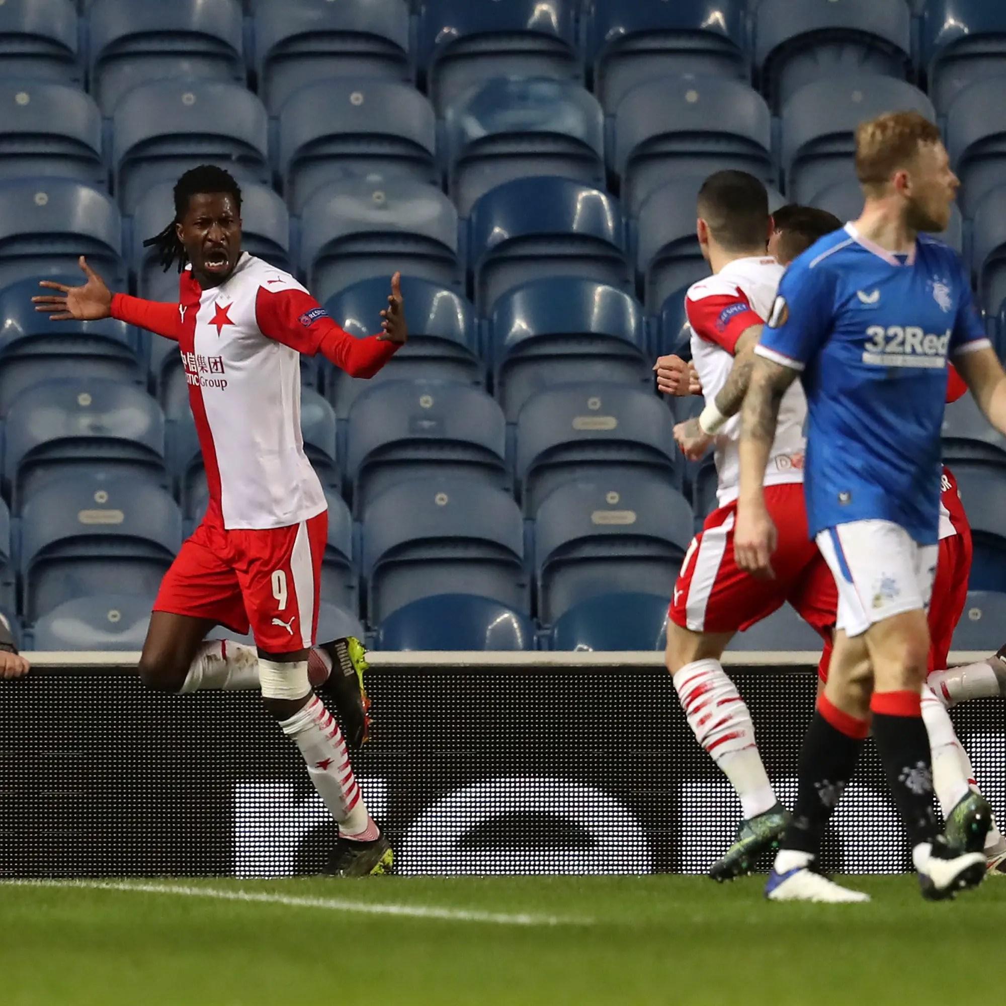 Europa: Olayinka On Target, Balogun Sent Off As Slavia Prague Eliminate Rangers, Chukwueze Bags Assist In Villarreal's Home Win Vs Dynamo Kyiv