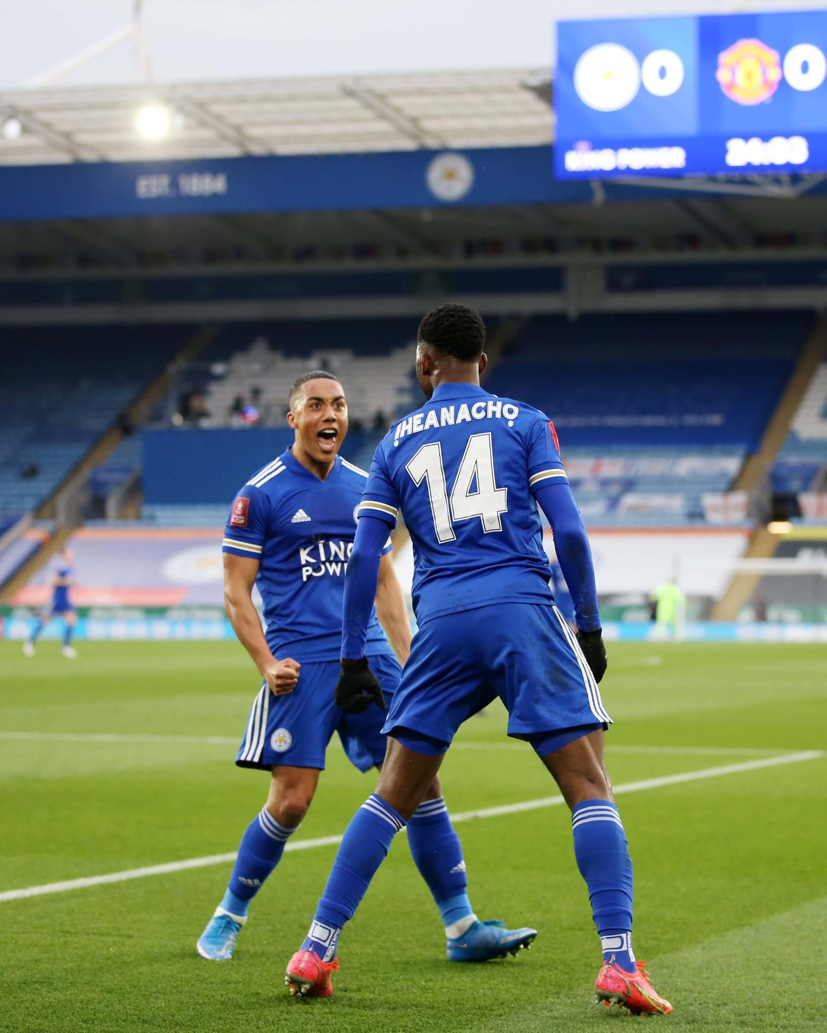 Iheanacho's Brace, Assist Sinks Man United, Sends Leicester Into First FA Cup Semi-finals In 39 Years