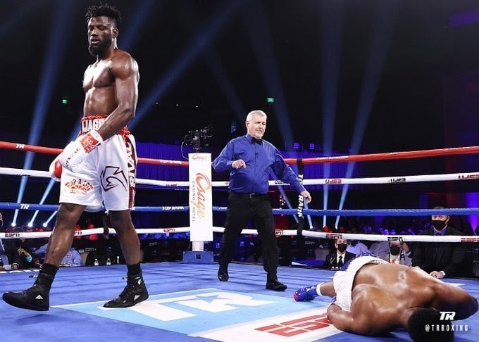 Ajagba Maintains Unbeaten Streak With 3rd Round Knockout Win