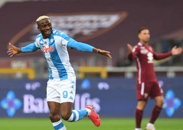 Serie A: Osimhen On Target Again As Napoli Beat Torino Away, Move Ahead Of Juve Into Third Place