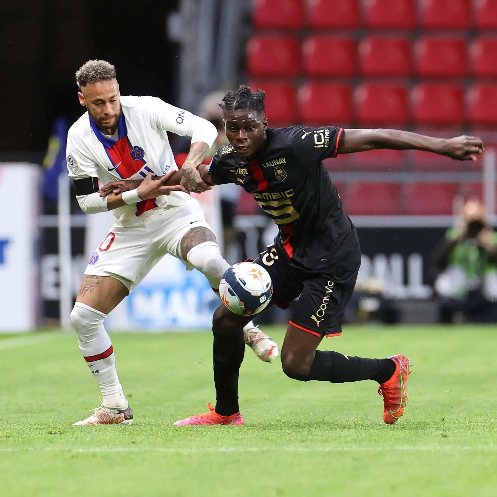 Ugochukwu Thrilled  To Tame Neymar In Rennes' Draw Vs PSG