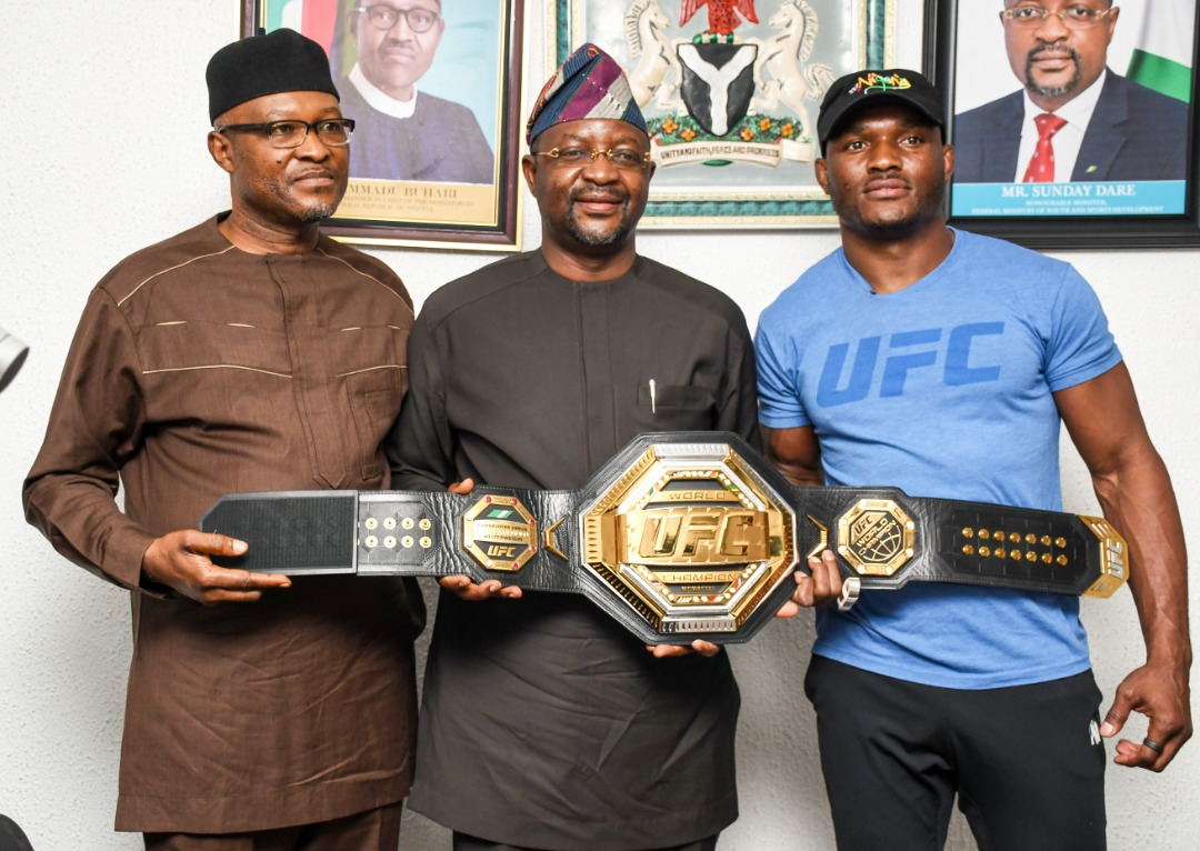 Sports Minister Charges Kamaru Usman To Develop Martial Art In Nigeria
