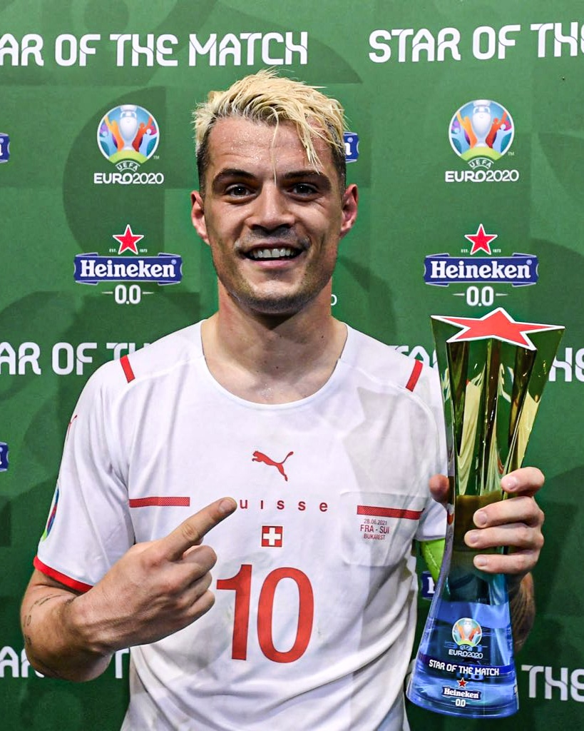 Euro 2020: Arsenal Star Xhaka Named MOTM In Switzerland's Shock Win Vs France