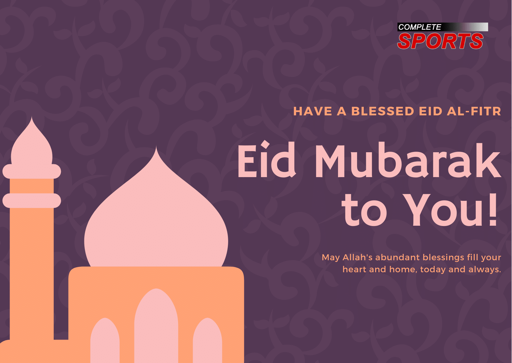 Happy Eid El Kabir From Complete Sports