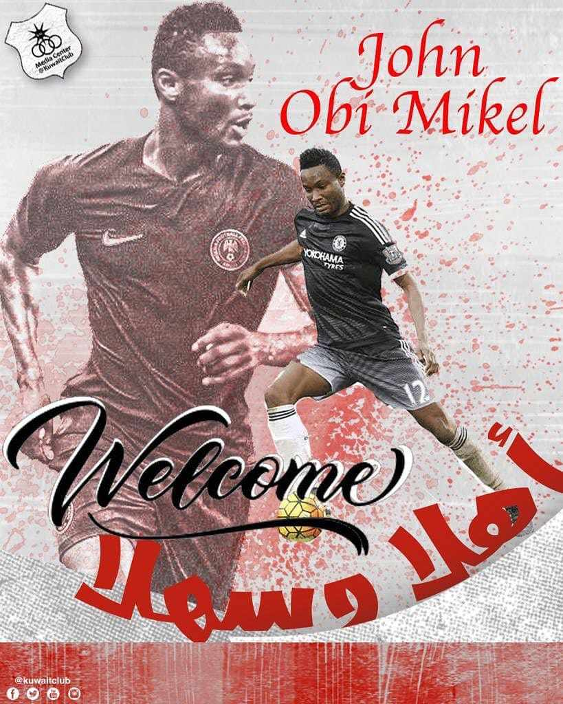 Mikel Delighted To Join  Kuwait SC