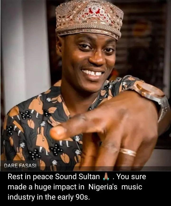 Amokachi, Omeruo Mourn Late Nigerian Music Star  Sound Sultan