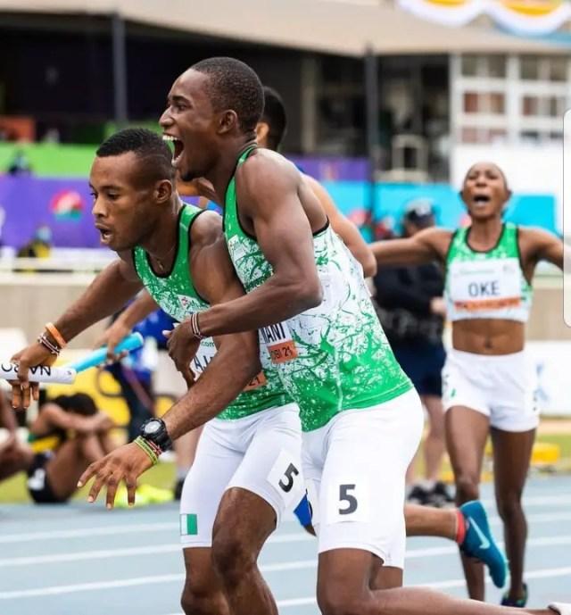 team-nigeria-4x400m-mixed-relay-team-world-athletics-u-20-championships-nairobi-2021-tonobock-okowa