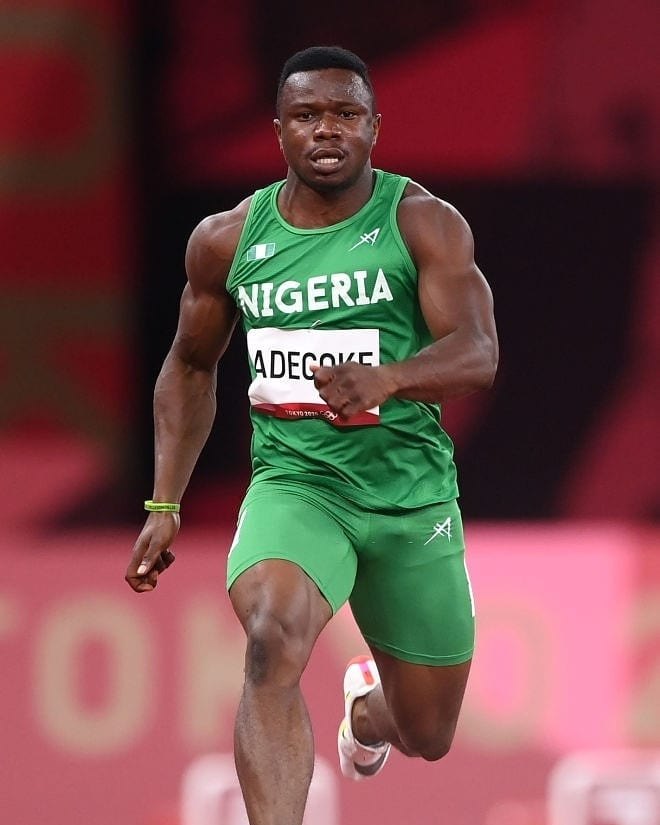 Adegoke Makes Olympic History, Becomes Third Nigerian To Run In 100m Final