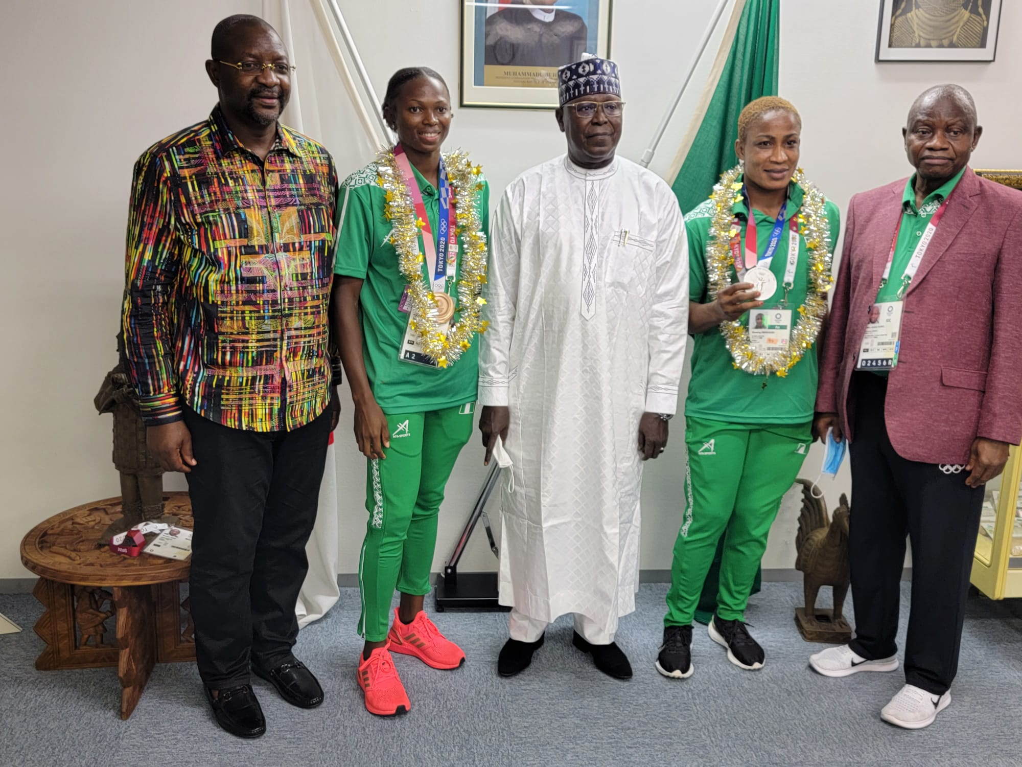 Tokyo 2020: Team Nigeria Arrives Abuja