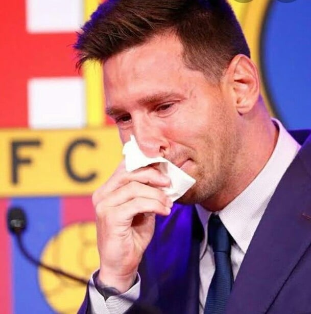 Messi's Used Tissue Paper During Barca Farewell Auctioned For $1m