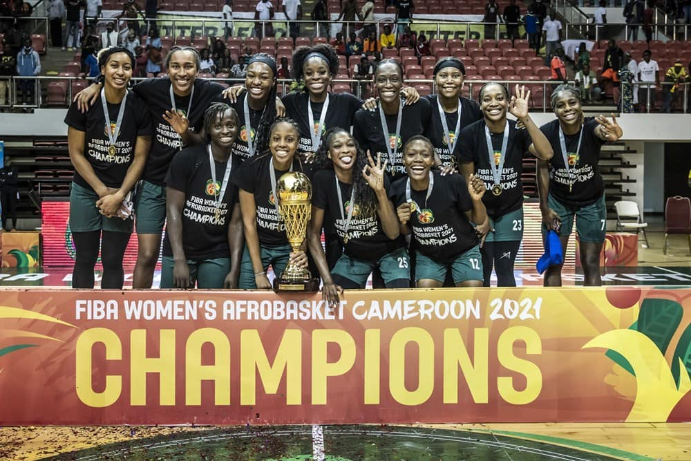2021 Women's AfroBasket Champions D'Tigress Back In Nigeria