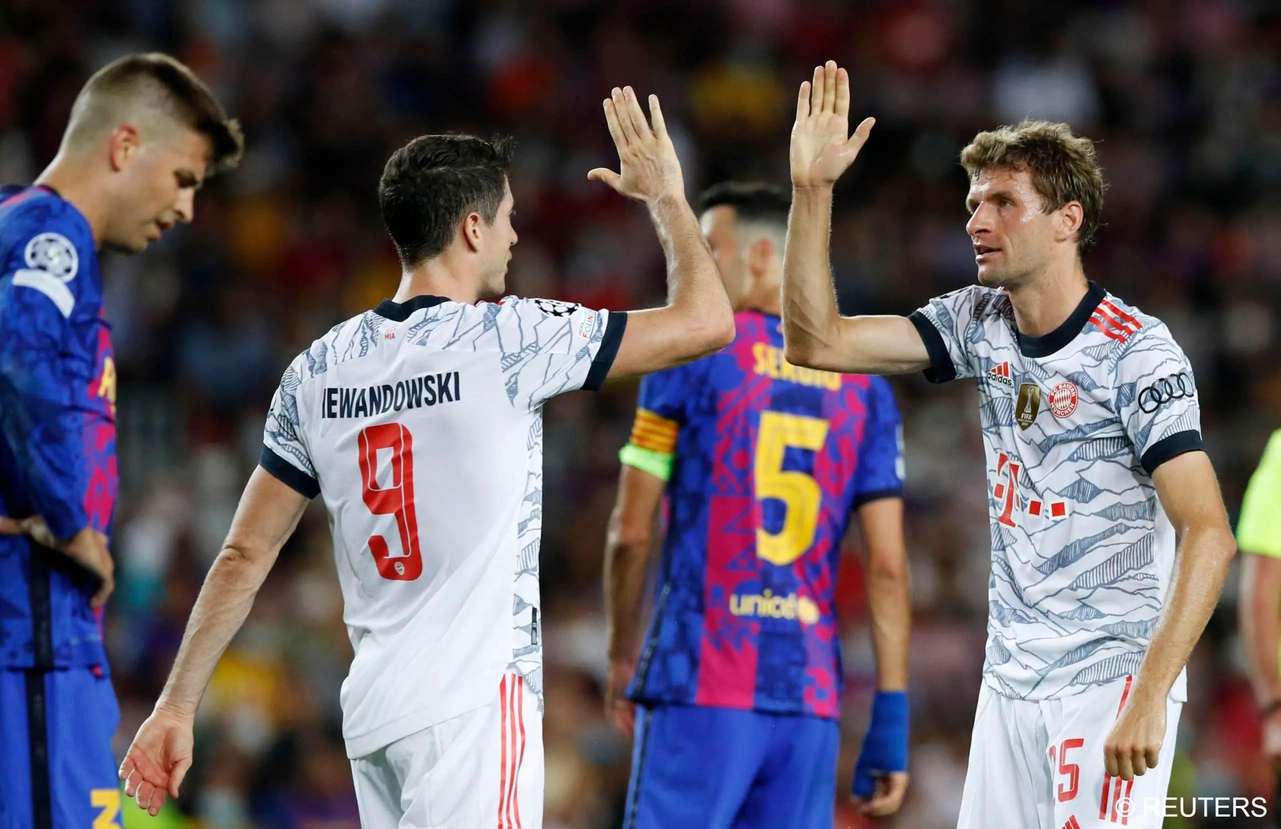 UCL: Lewandowski Bags Brace As Bayern Outclass Barca At Nou Camp
