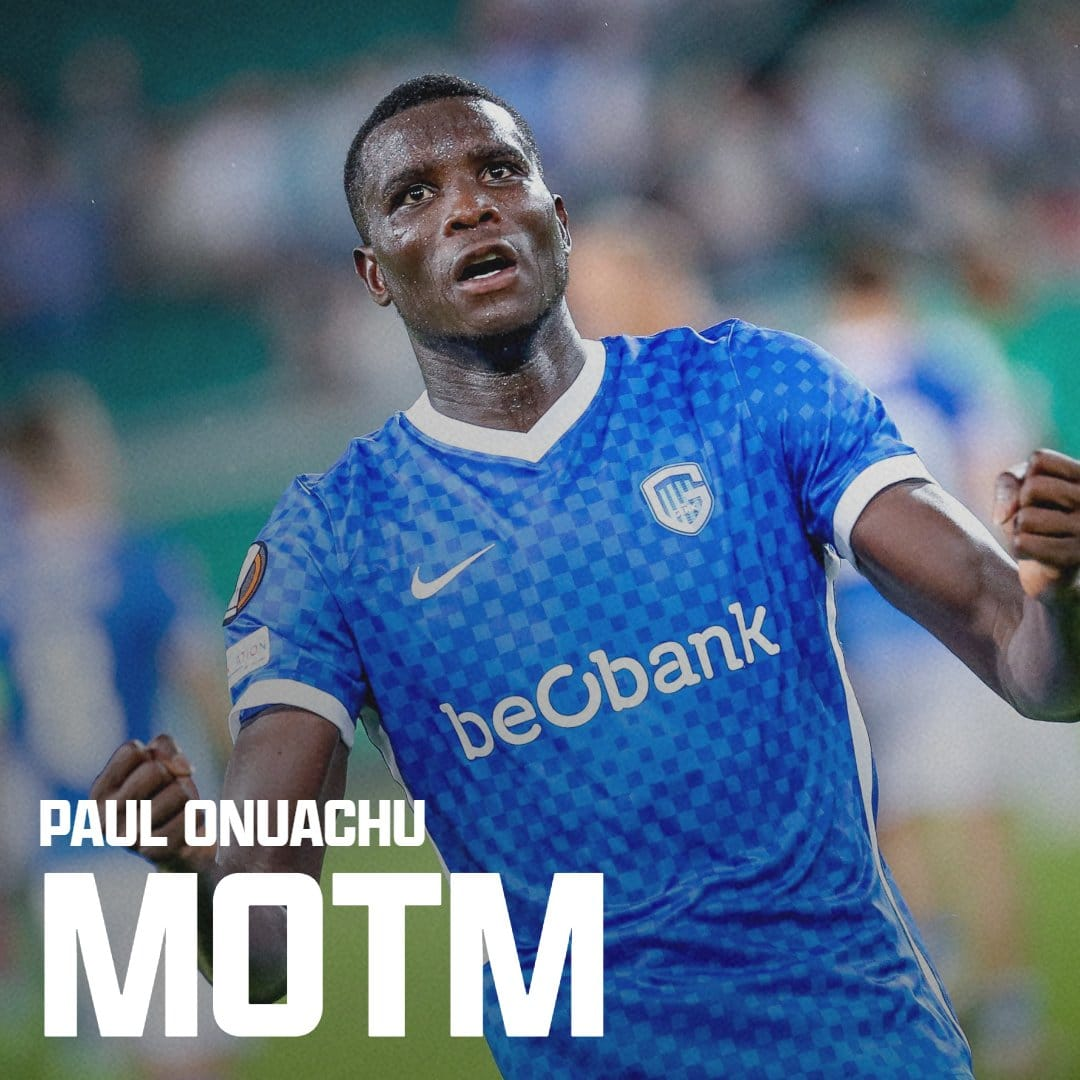 Europa League: Onuachu Named Man Of The Match In Genk's Dramatic Win At Rapid Wien