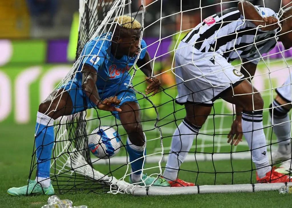 SERIE A: Osimhen Scores Again As Napoli Thrash Udinese 4-0