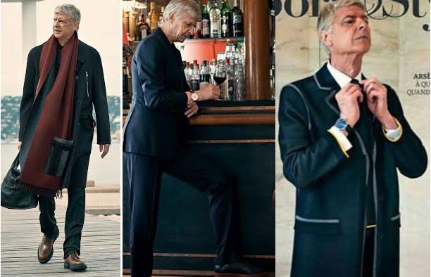 Arsene Wenger Turns Into Fashion Model!