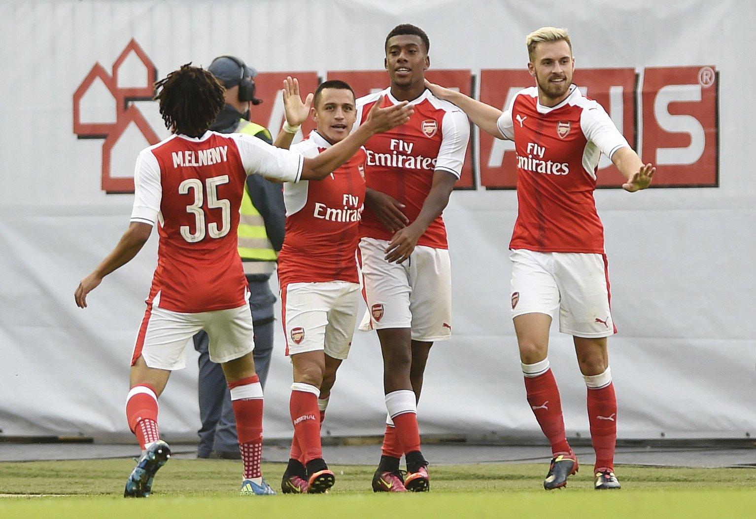 Iwobi, Akpom, Iheanacho On Target As Arsenal Edge Man City