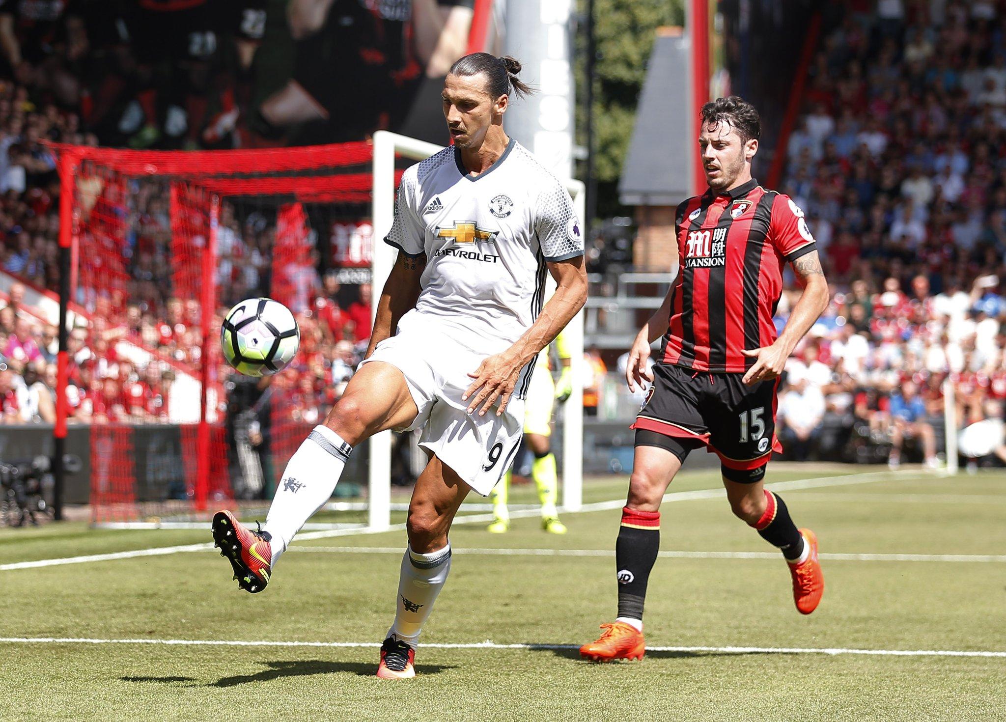 Zlatan, Mata Score As Man United Ease Past Bournemouth