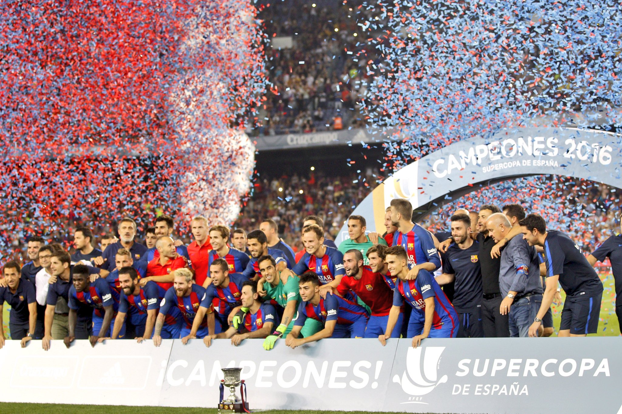 Messi Inspires Barcelona Past Sevilla To Claim Super Cup