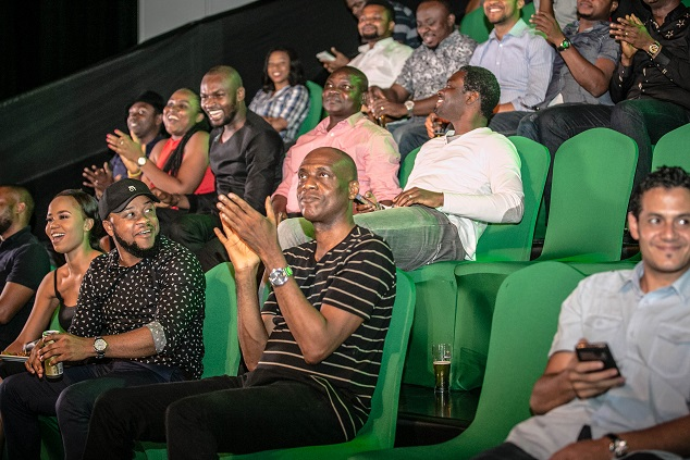 10. Audience watching the UEFA Champions League Match at the Heineken UCL 'Kick-off' event