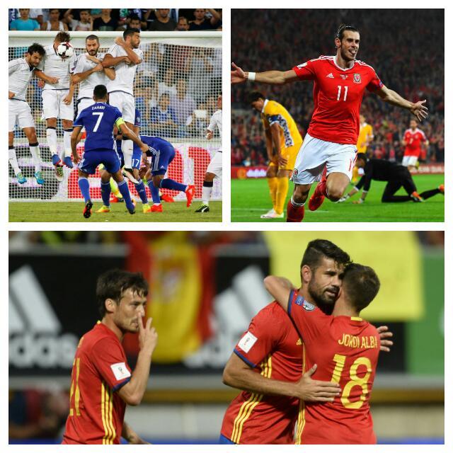 Russia 2018: Spain Trounce Liechtenstein, Bale Leads Wales Rout, 10-Man Italy Edge Israel
