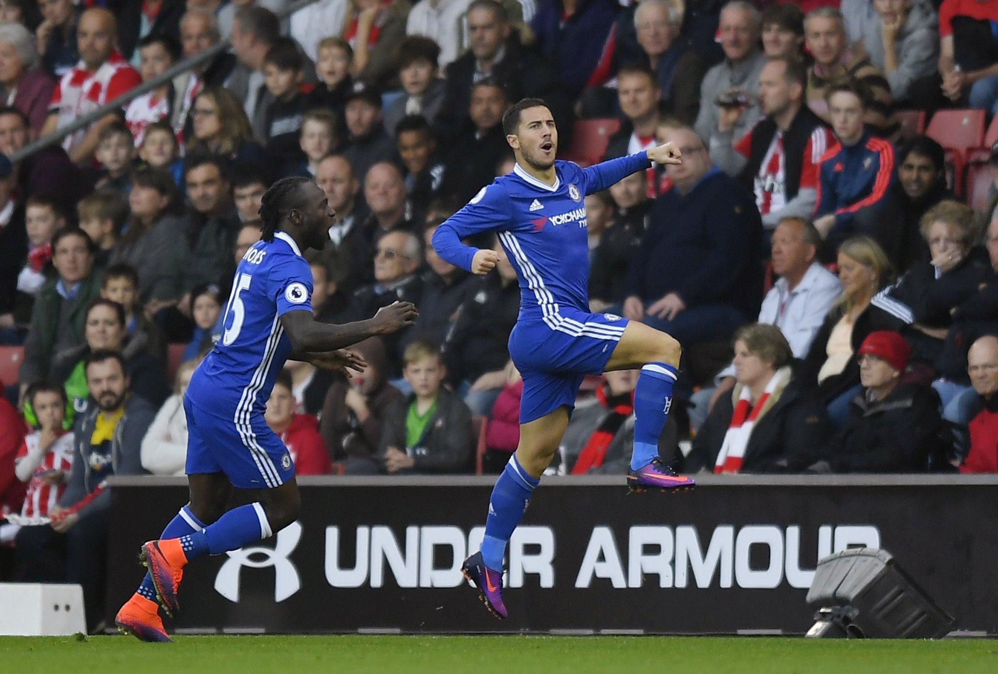 Moses Sparkles, Hazard Scores As Chelsea Ease Past Southampton