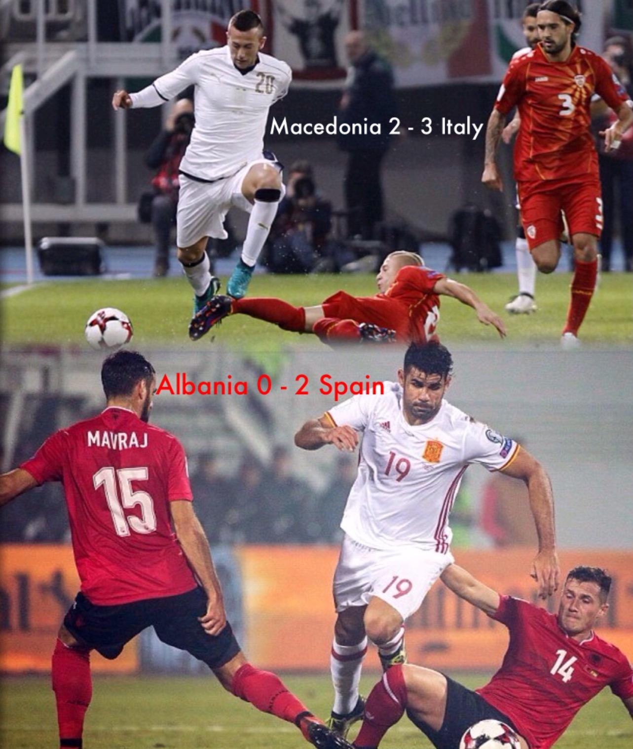 Euro WCQ: Italy Avoid Macedonia Upset; Spain, Ireland, Iceland Win