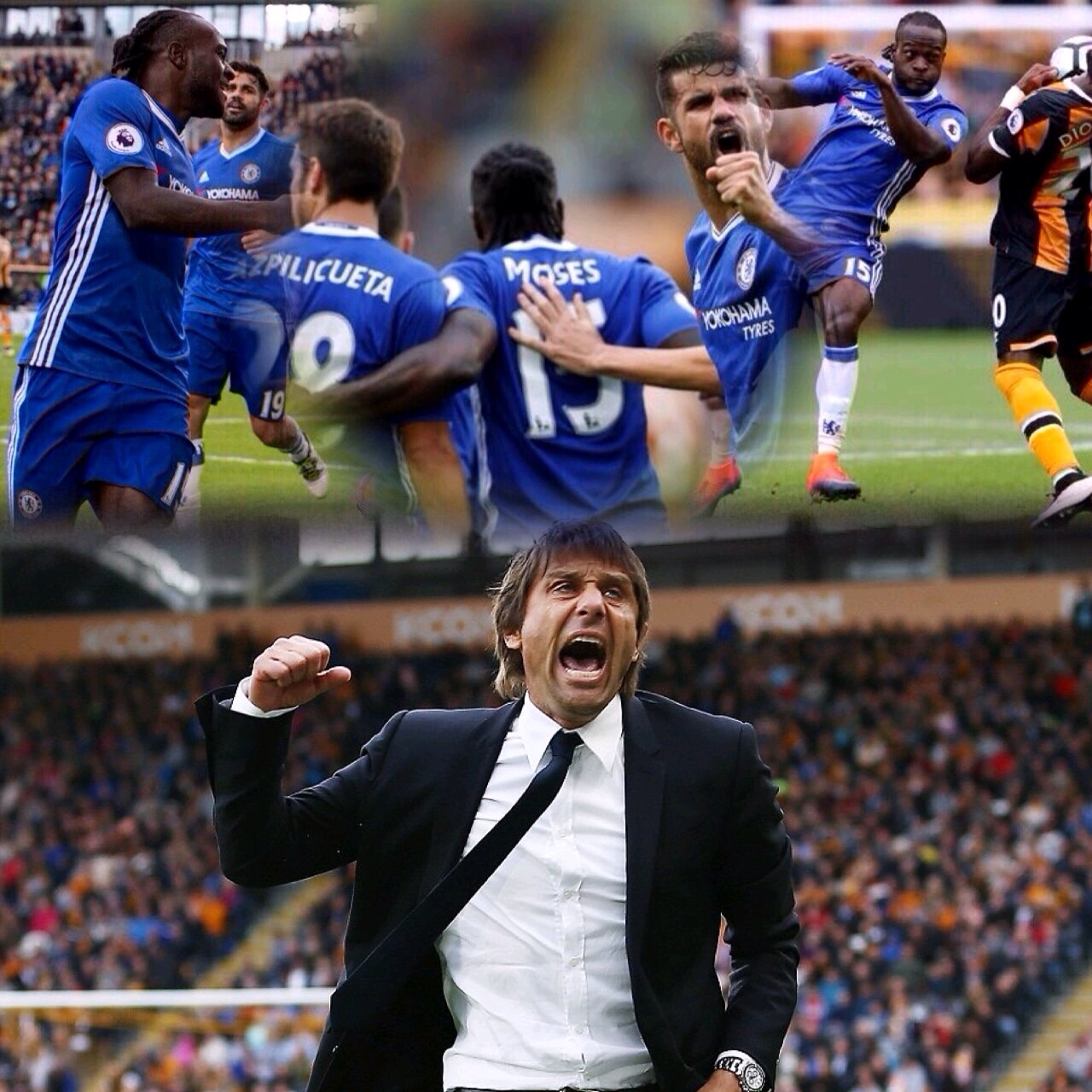 Conte Hails Brilliant Moses In Chelsea's Win At Hull