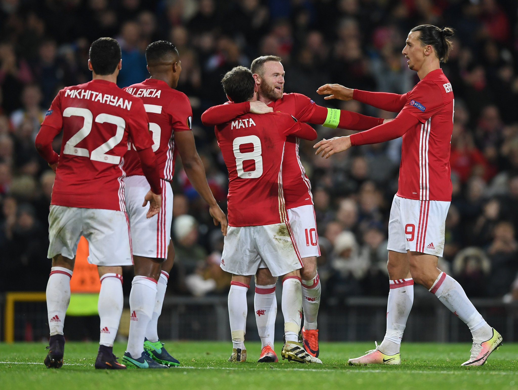 Europa: Rooney, Mata Fire United Past Feyenoord; Ideye, Balogun Shine