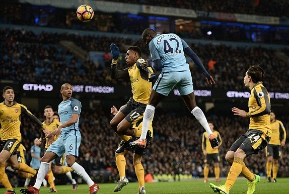 Iwobi Stars, Iheanacho Subbed As Man City Edge Arsenal