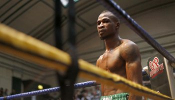 Image result for Ekundayo suffers 1st career defeat after losing to Corcoran