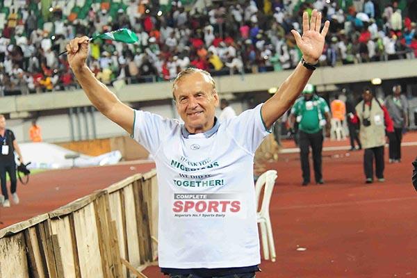 Rohr Defends Agu, Praises Aina After Nigeria Win Vs Zambia