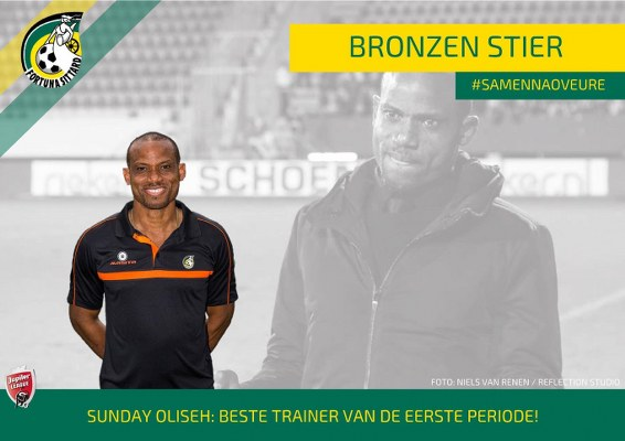 Image result for Oliseh wins best Coach award in Dutch 2nd division