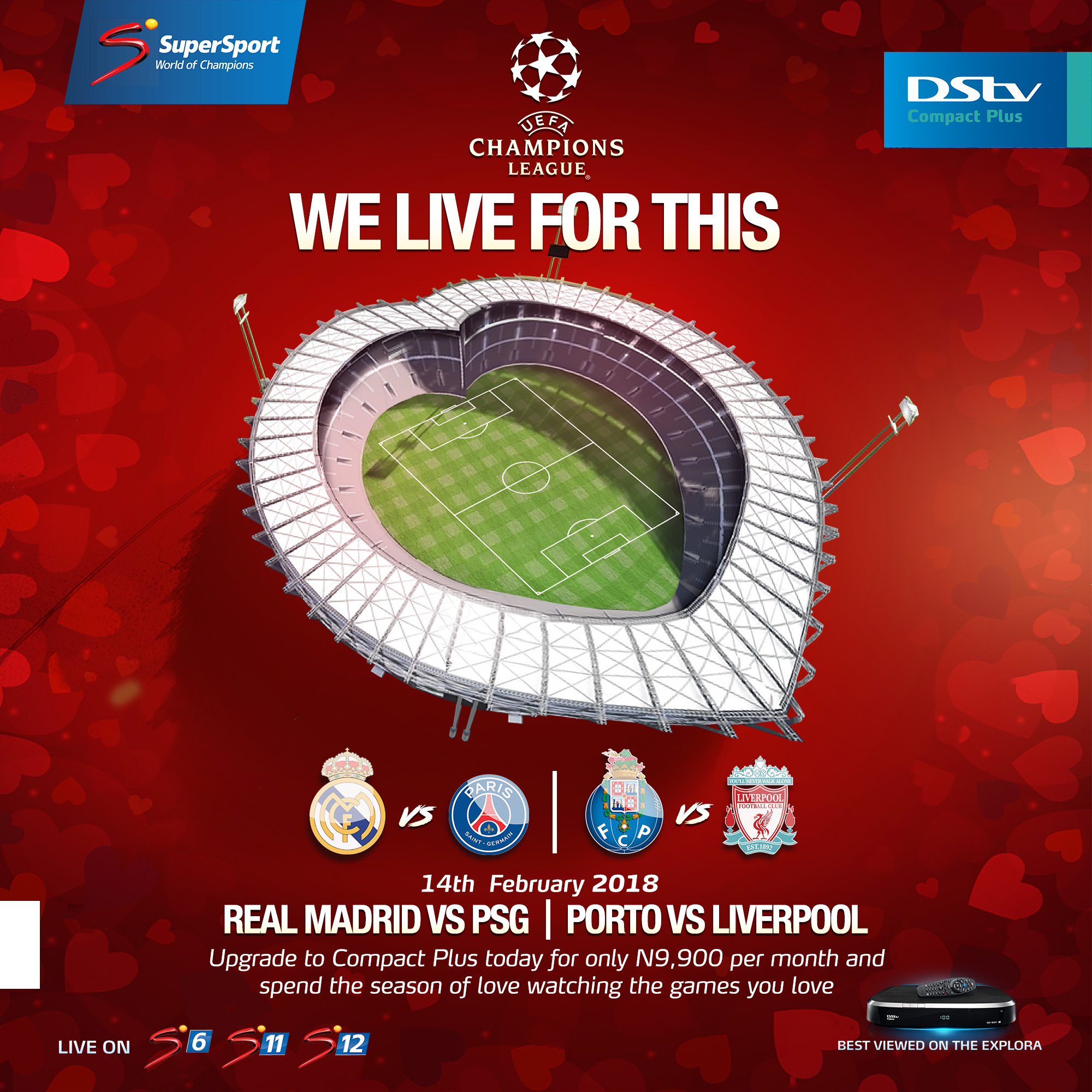 Enjoy The UEFA Champions League Action This Season Of Love