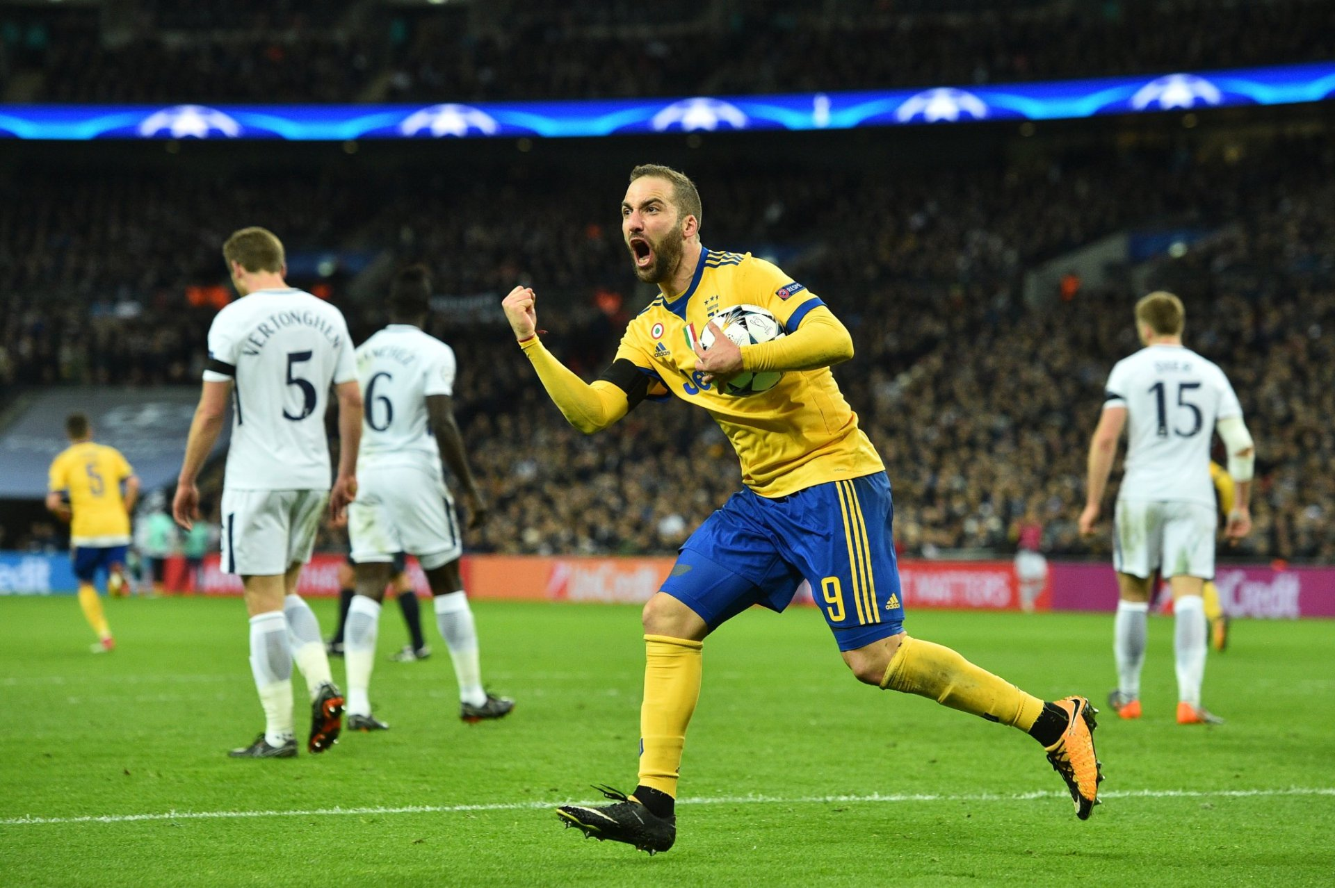 UCL: Juve Stun Spurs At Wembley, Man City Advance Despite Basel Defeat