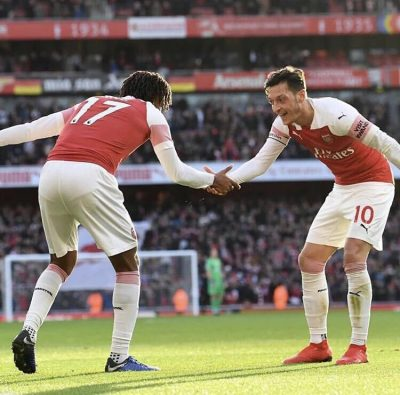 Emery Defends Ozil Half-time Substitution For Iwobi