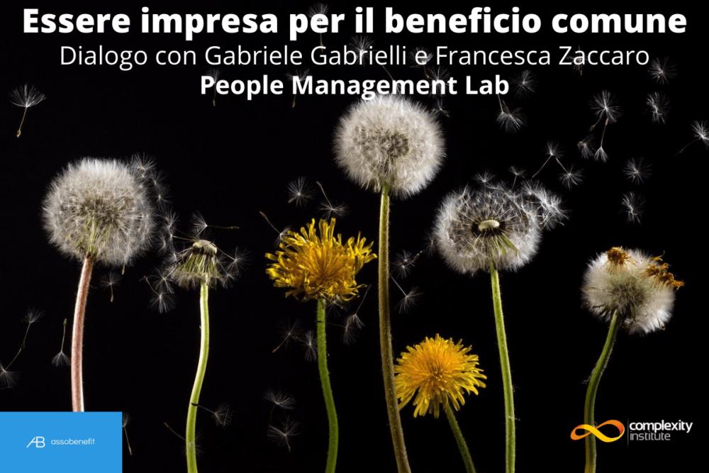 Essere impresa per il beneficio comune - People Management Lab