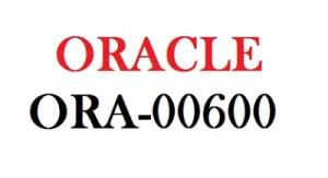 ORA-00600: internal error code